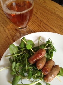 Marmalade glazed sausages