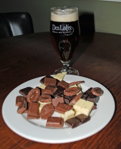 Dea Latis beer and chocolate selection
