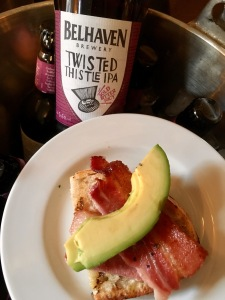 avocado-bacon-with-belhaven-twisted-thistle